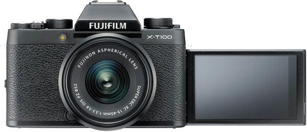 Fujifilm X-T100 screen extended