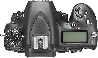 Nikon D750 DSLR camera top view