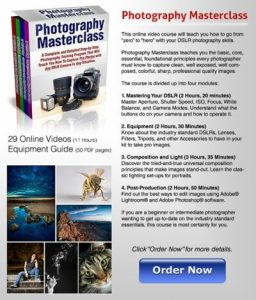 Photography Masterclass course Listing