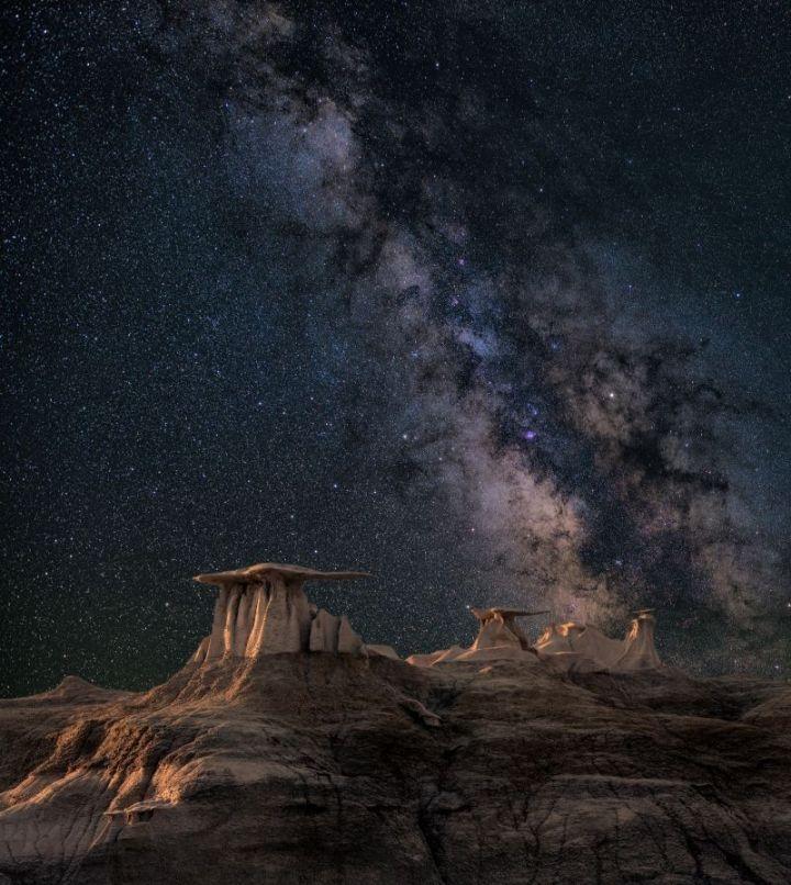 Stars over mountain