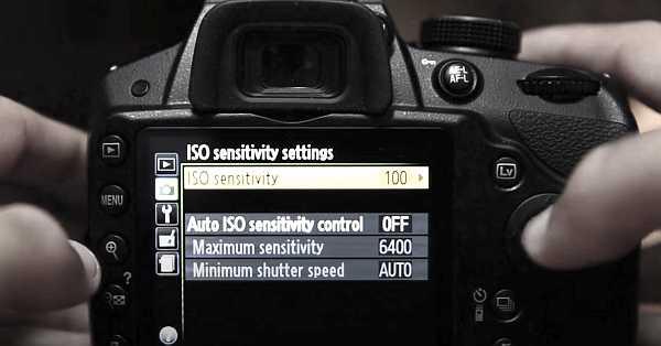Nikon D3200 ISO sessitivity