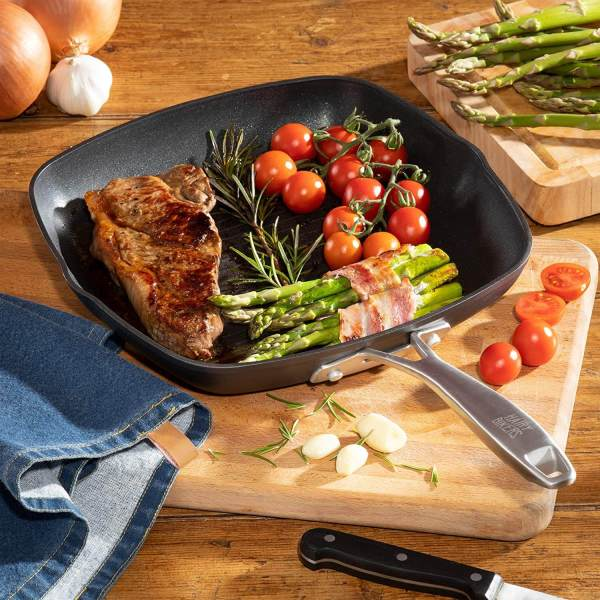 Hairy Bikers 28cm Griddle Pan CKW2094 Forged Grill Griddle Pan