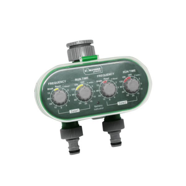 Kingfisher garden Twin outlet electrical water timer