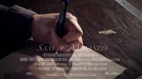 Sam & Miranda Wedding Highlight Film Screen Shot