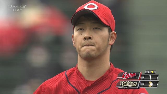 広島・薮田、1イニング4四球で緒方監督ブチギレ