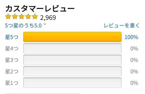 ワイ「Amazonで電気シェーバー買うか」 レビュー「2969件中2969件が★5です」ワイ「!?」