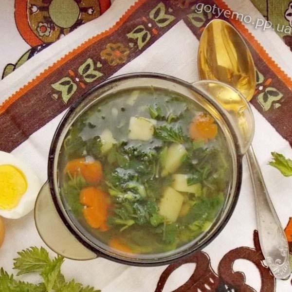 готовий суп з кропиви
