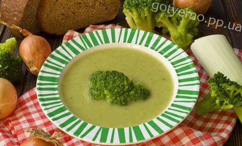Дієтичний суп-пюре з брокколі