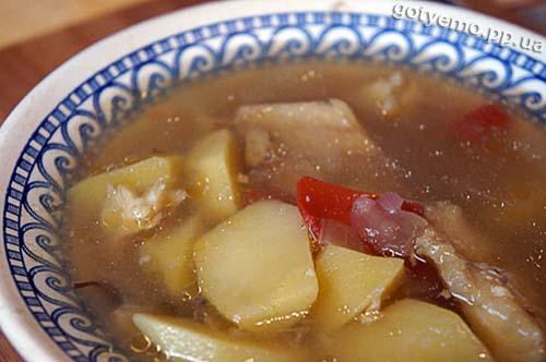 Суп з тріски з овочами