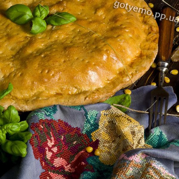 Пиріг з м'ясом і грибами