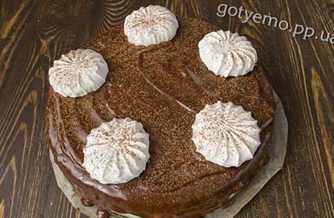 рецепт шоколадного торта з зефіром