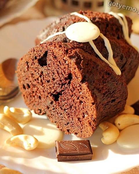 Шоколадно-банановий кекс