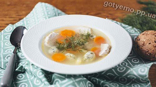 Рецепт курячого супу з галушками