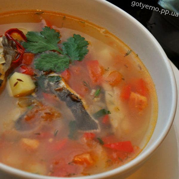 Гострий овочевий суп з камбалою