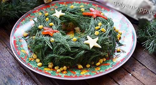 рецепт салату Різдвяний вінок