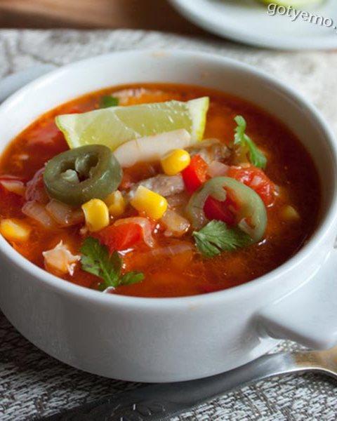 Вогняний курячий суп