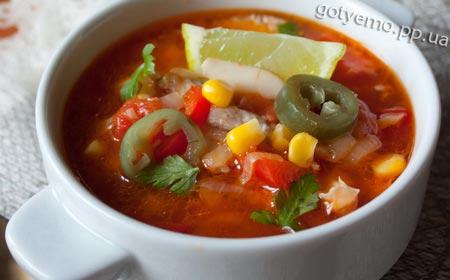 рецепт вогняного курячого супу