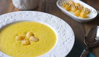рецепт супу-пюре з кукурудзи