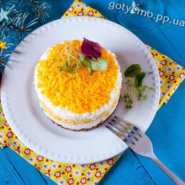 Рисовий салат з печінкою