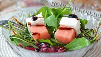 рецепт салату з кавуном і бринзою