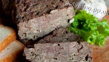 як приготувати террін із свинини