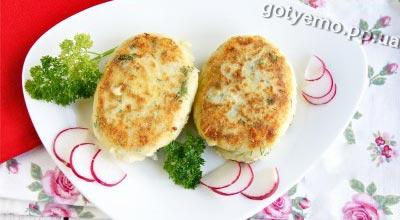 Рецепт картопляних котлет з сиром