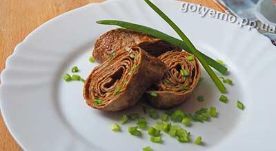 Рецепт японського омлету з зеленою цибулею