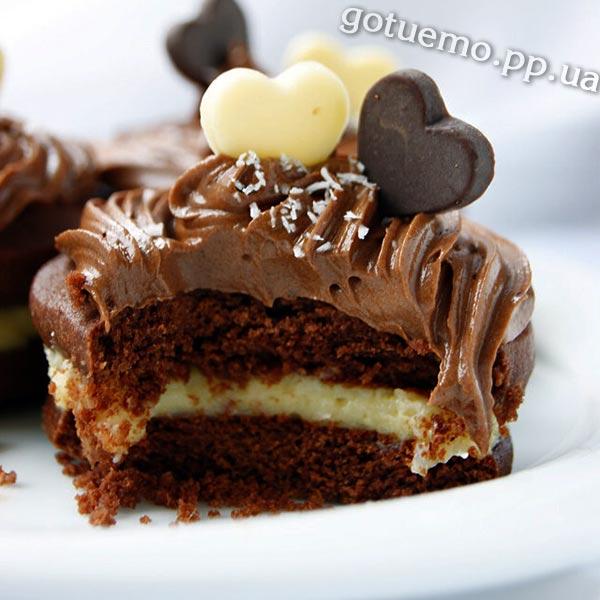 Шоколадне печиво з кокосовим кремом