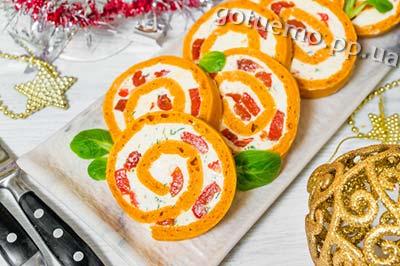 рецепт томатного рулету