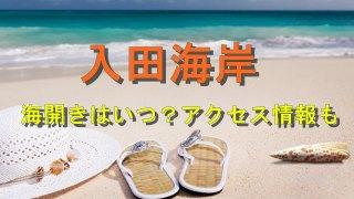 入田海岸海水浴場の海日楽とアクセス情報