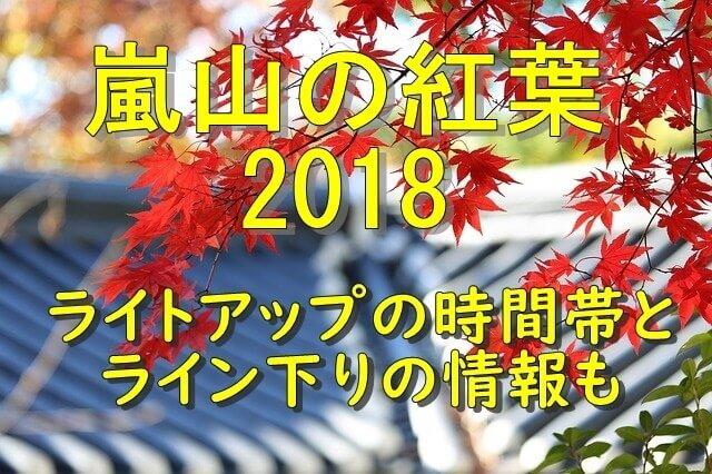 嵐山の紅葉2018のライトアップとライン下りの情報