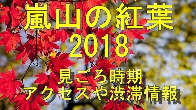 嵐山の紅葉2018見ごろやアクセス情報