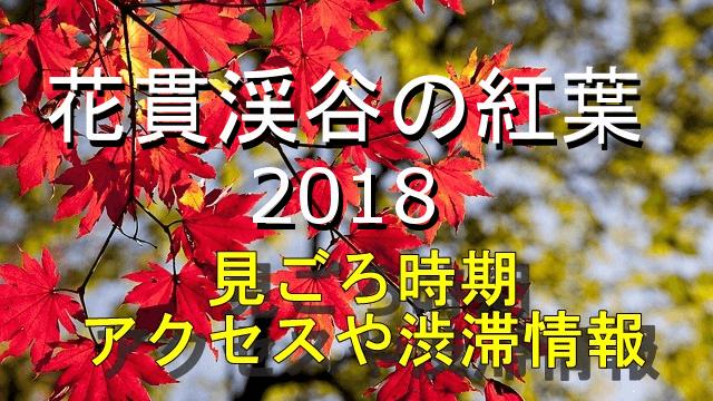 花貫渓谷の紅葉2018見ごろとアクセス情報