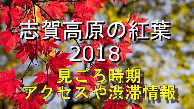 志賀高原の紅葉2018見ごろやアクセス情報