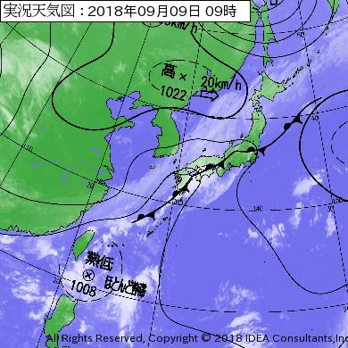 台風23号たまご2018最新の米軍とヨーロッパの進路予想