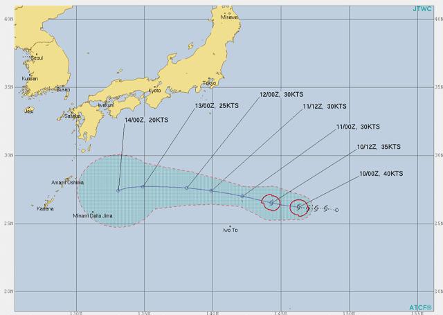 台風7号たまご米軍最新情進路報
