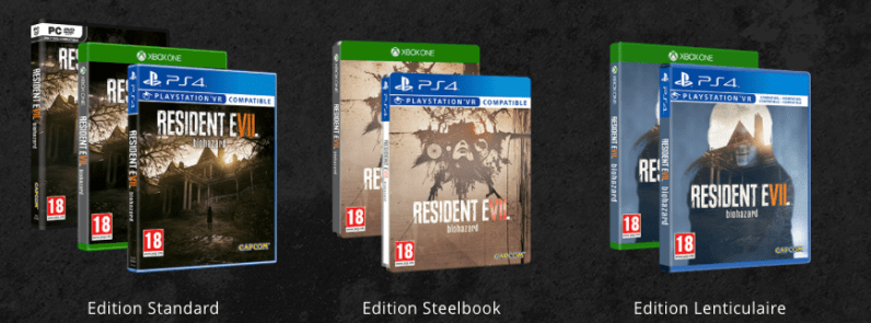 RE7 editions boites