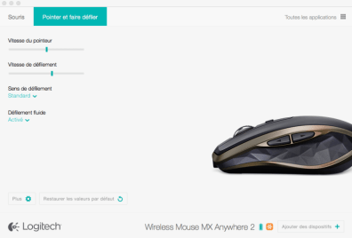 souris MX anywhere 2 config 2