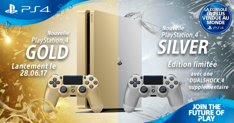 PS4 Silver Gold