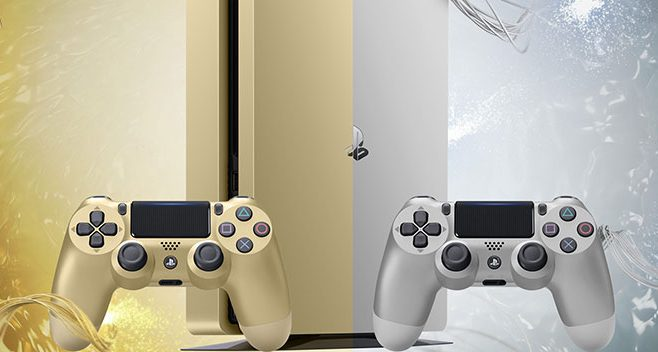 PS4 Slim Gold Silver