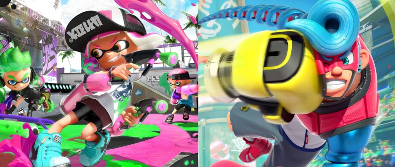 splatoon 2 et arms