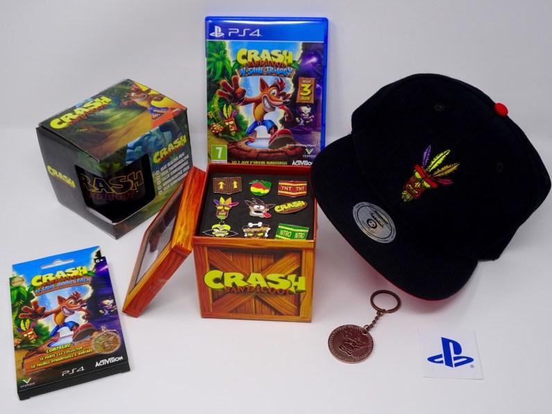 achats objets dérivés Crash Bandicoot