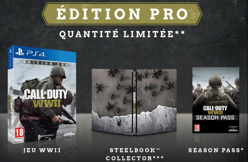 call of duty WWII pas cher