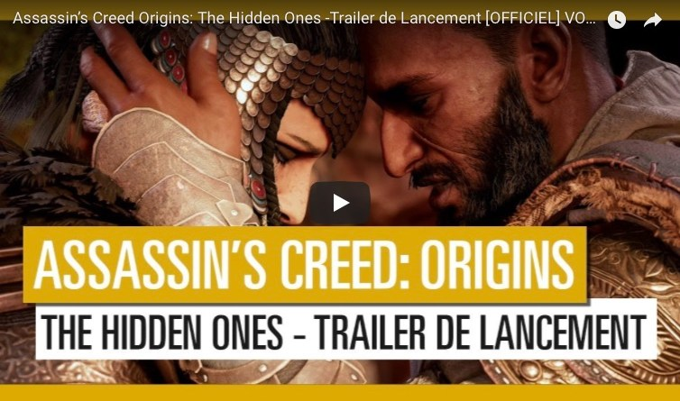 vidéo dlc assassin's creed origins