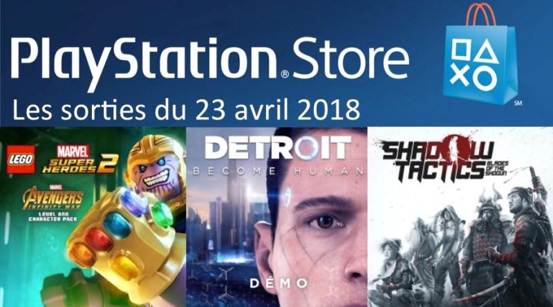 nouveautés Playstation Store
