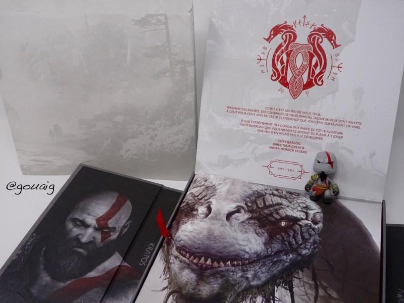 Unboxing Press Kit God of War PS4