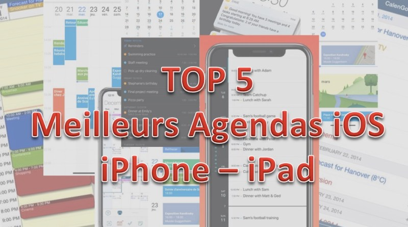 TOP 5 agendas iOS iPhone iPad - Gouaig