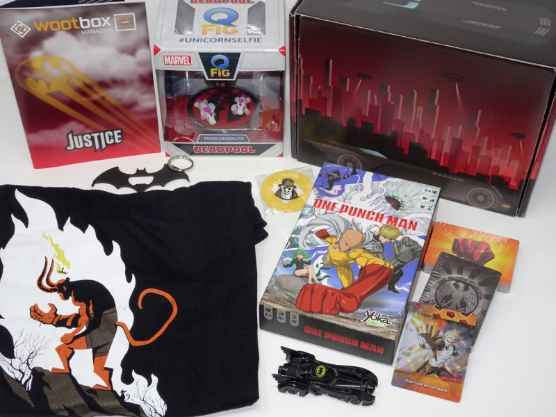 Unboxing Wootbox aout 2018 Justice