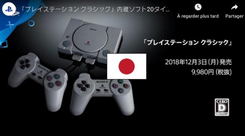 Playstation classic jeux asia Japon