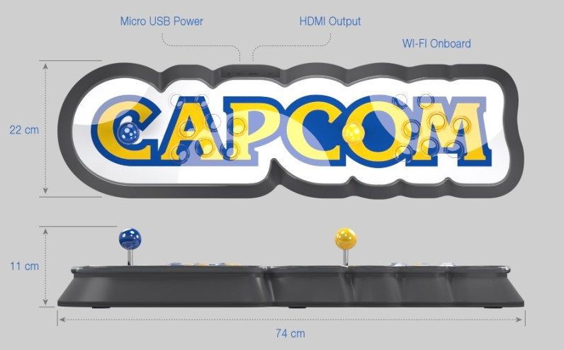 capcom home arcade spec
